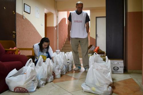 Ukrajina zbierka potravín Caritas Uzhorod (2)